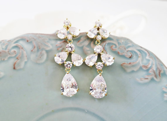 Bridal Crystal Chandelier Earrings