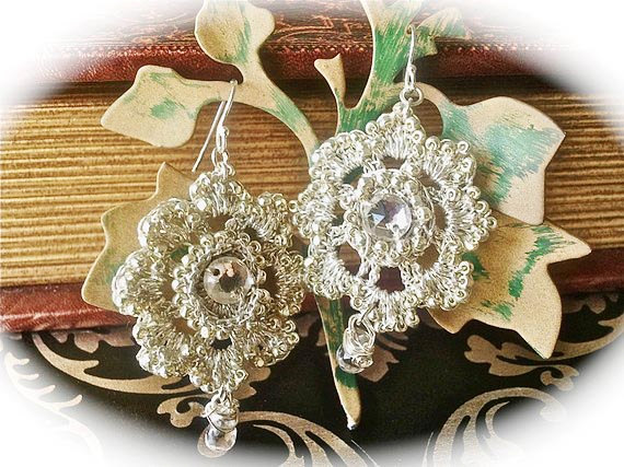 Silver Wedding Rhinestone Earrings, Bridal Earrings with Crystal, Wedding Jewelry, Bridesmaids Earrings