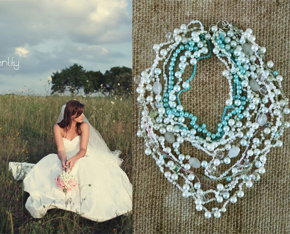 Chunky Layered Bridal Pearl Necklace