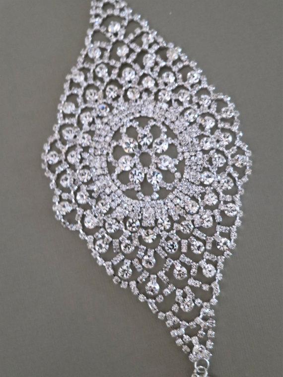 Wide Rhinestone Wedding Cuff - Pearl Rhinestone Bridal Cuff Bracelet - Silver Rhinestone Cuff