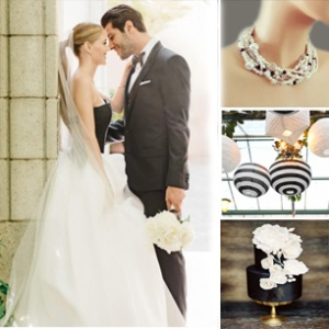 black white weddings